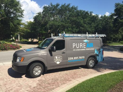 pure air conditioning service truck