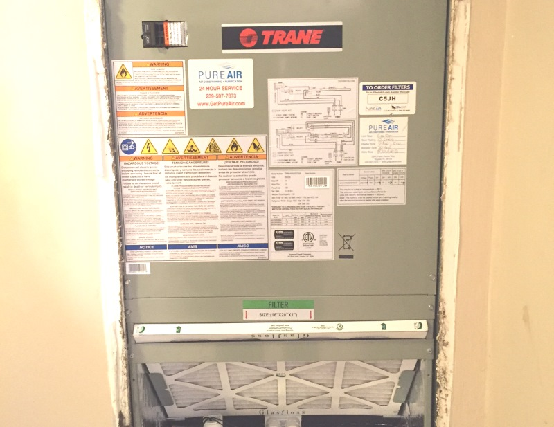 Trane Air Handler And Condenser Install Naples Fl Pure Air